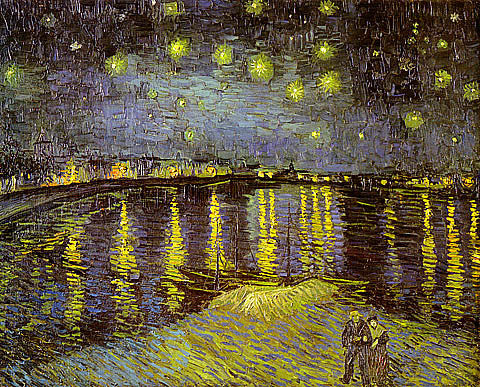 Vincent Van Gogh-Starry Night Over Rhone