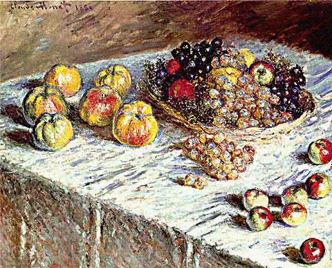 Claude Monet-Still Life Apples and Grapes