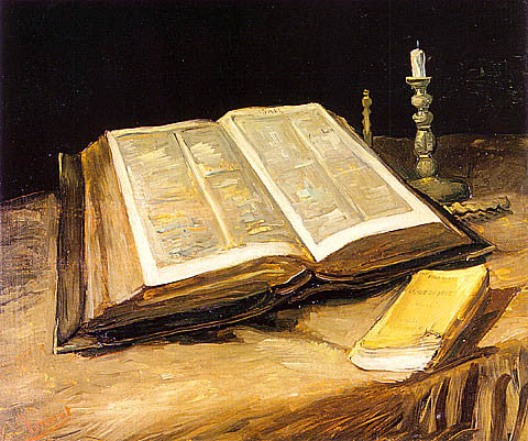 Vincent Van Gogh-Still Life With Open Bible