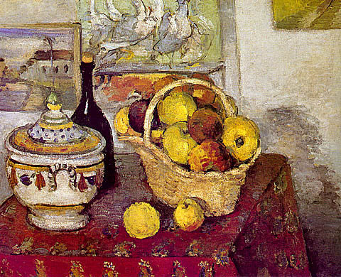 Paul Cezanne-Still Life With Soup Tureen
