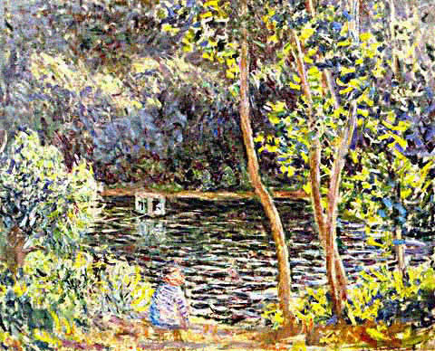 Claude Monet-Studio Boat