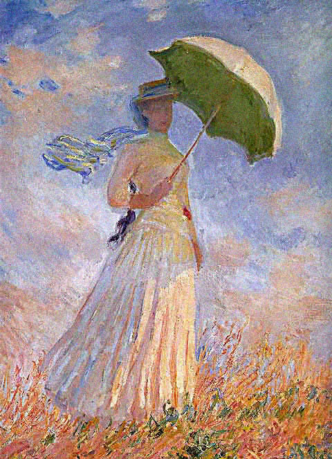 Claude Monet-Lady With Parasol Facing Right
