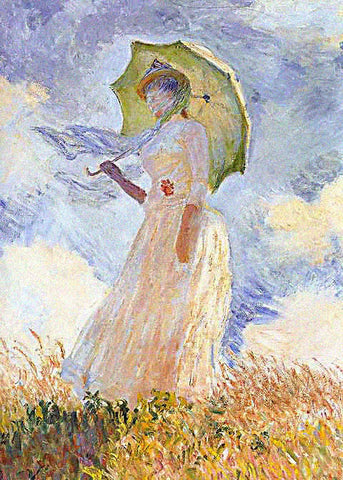 Claude Monet-Lady With Parasol Facing Left