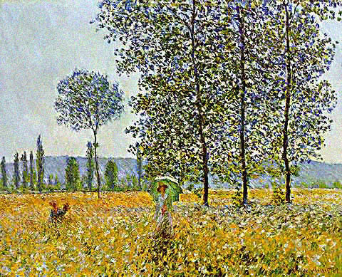 Claude Monet-Sunlight Effect Under the Poplars