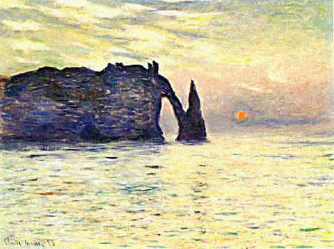 Claude Monet-Sunset at Etreat
