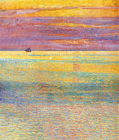 Childe Hassam-Sunset At Sea