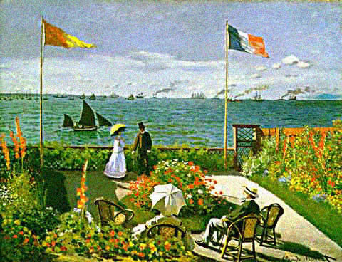 Claude Monet-Terrace at Sainte Adresse