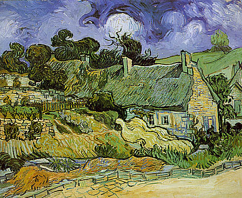 Vincent Van Gogh-Thatched Cottages At Cordeville