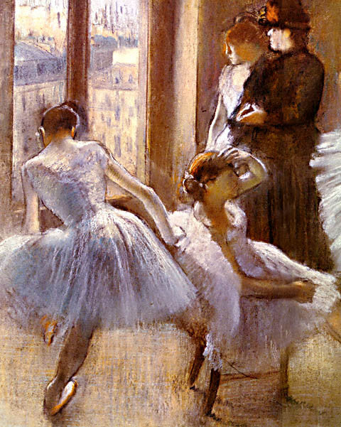 Edgar Degas-The Green Room At The Opera