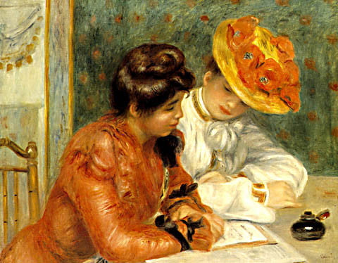 Pierre Auguste Renoir-The Letter