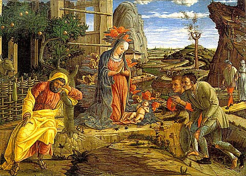 Andrea Mantegna-The Adoration Of The Shepherds