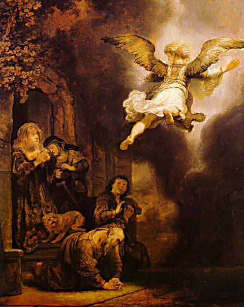 Rembrandt-The Angel Leaving Tobias
