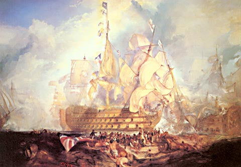 Joseph Mallord William Turner-The Battle Of Trafalgar 1823