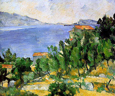 Paul Cezanne-The Bay Of Lestaque