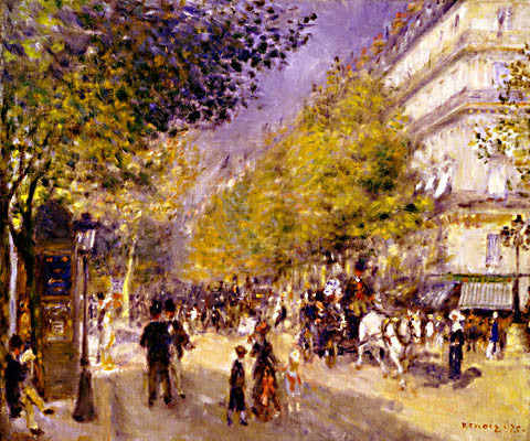 Pierre Auguste Renoir-The Boulevards Of Paris 1875