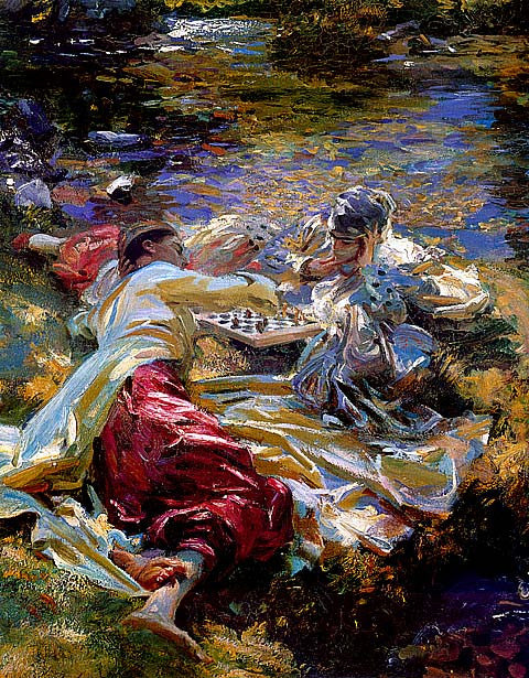 John Singer Sargent-The Chess Game