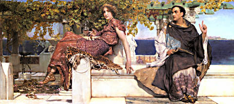 S. L. Alma-Tadema-The Conversion Of Paula By Saint Jerome
