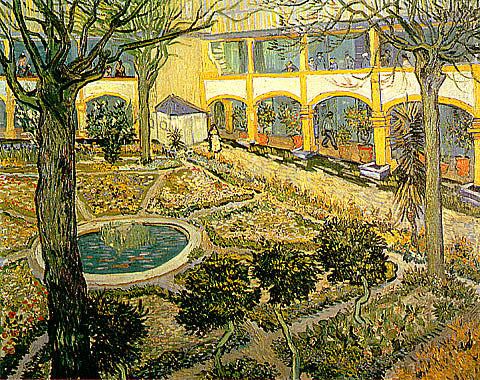 Vincent Van Gogh-The Courtyard Of The Hospital