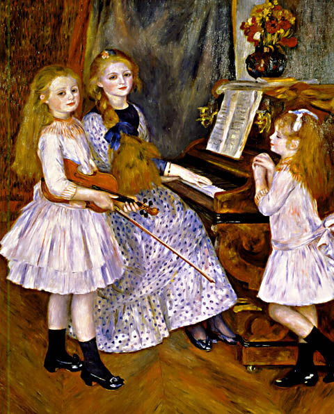 Pierre Auguste Renoir-The Daughters Of Catulle Mendes 1888
