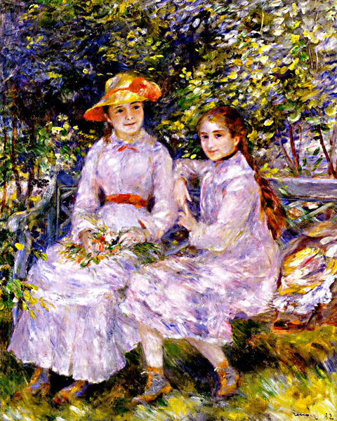 Pierre Auguste Renoir-Marie Therese And Jeanne 1882