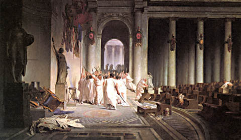 S. L. Alma-Tadema-The Death Of Caesar 1867