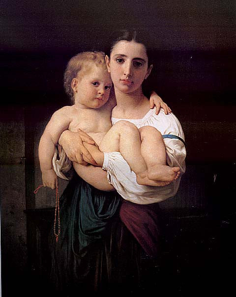 William Adolphe Bouguereau-The Elder Sister