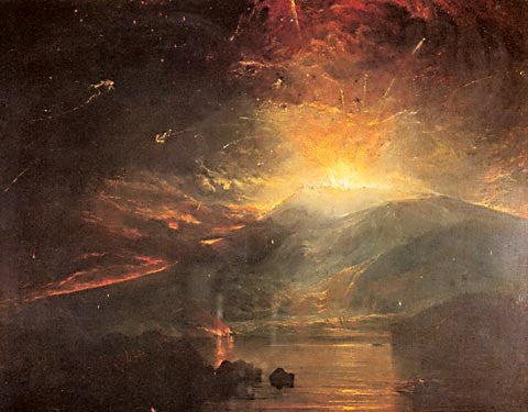 Joseph Mallord William Turner-The Eruption Of The Souffrier Mountains 1812