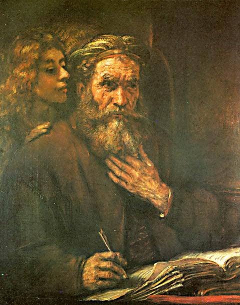 Rembrandt-The Evangelist Matthew