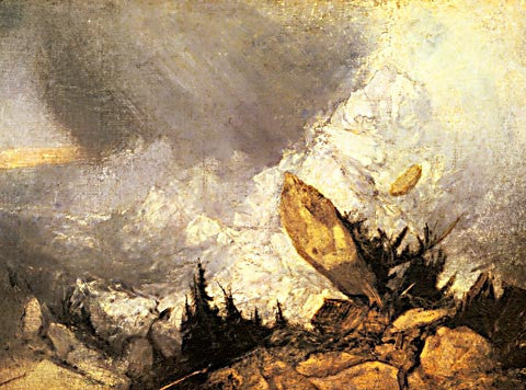 Joseph Mallord William Turner-Avalanche In The Grisons