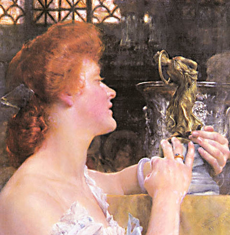 S. L. Alma-Tadema-The Golden Hour 1908