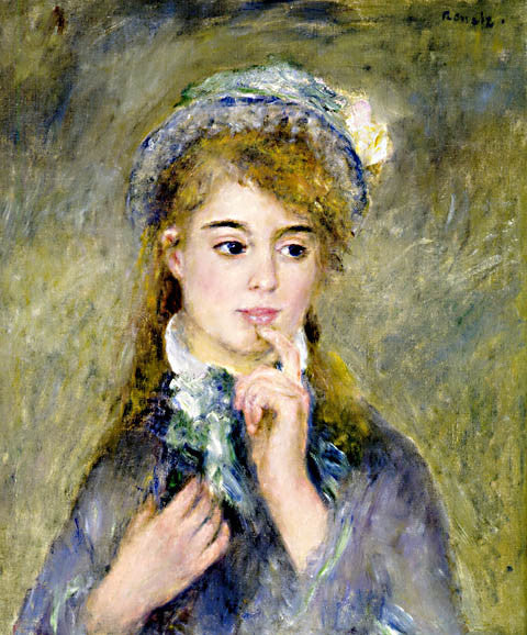 Pierre Auguste Renoir-The Ingenue 1876