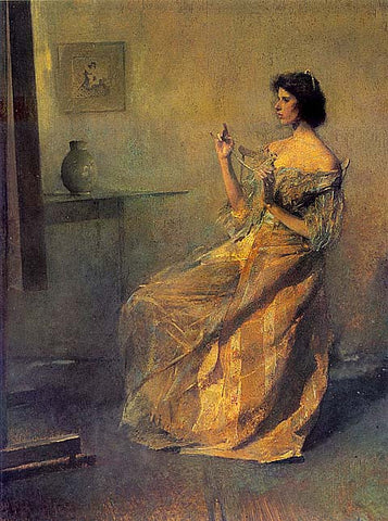 Thomas Dewing-The Necklace
