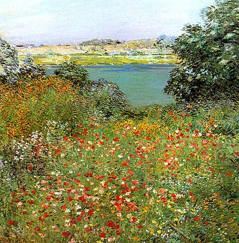 Willard Metcalf-The Poppy Garden