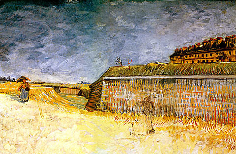 Vincent Van Gogh-The Ramparts Of Paris Near Porte De Clichy