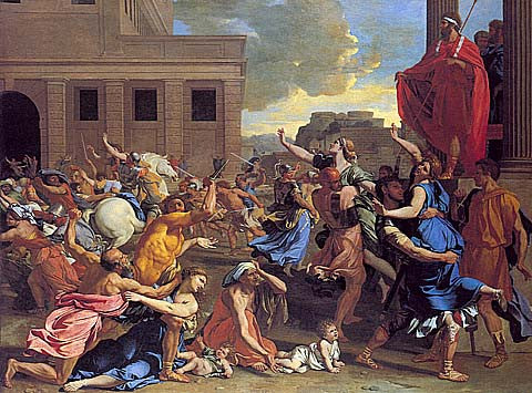 Nicolas Poussin-The Rape Of The Sabine Woman