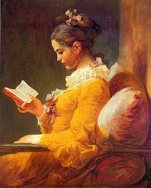 Jean Honore Fragonard-The Reader