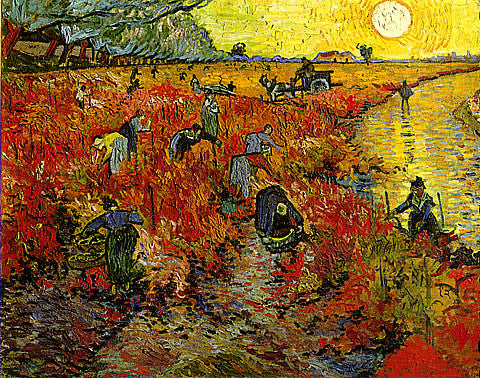 Vincent Van Gogh-The Red Vineyard