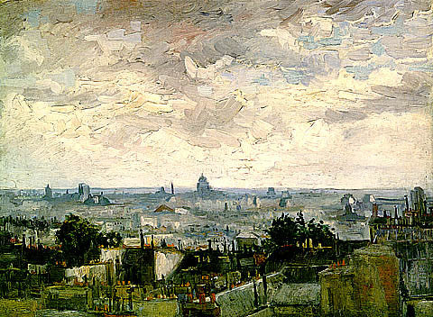 Vincent Van Gogh-The Roofs Of Paris Cloudy Morning