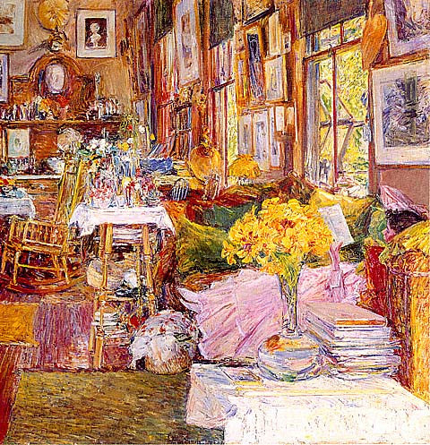 Childe Hassam-Room Of Flowers