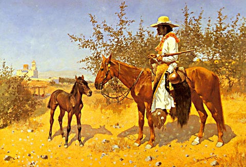 Frederic Remington-The Sentinel 1889