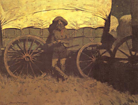 Frederic Remington-The Sentinel 1907