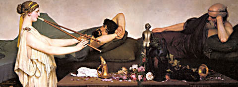 S. L. Alma-Tadema-The Siesta 1868