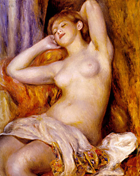 Pierre Auguste Renoir- The Sleeper 1897