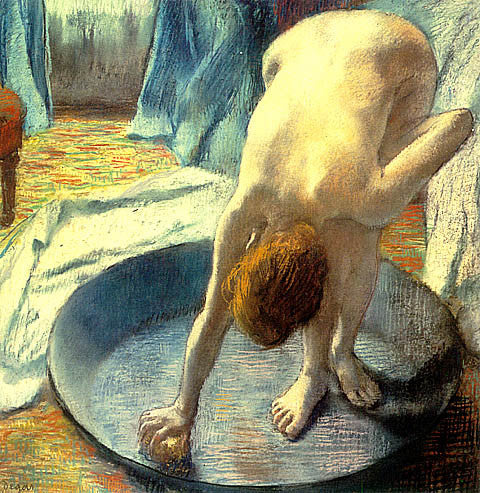 Edgar Degas-The Tub