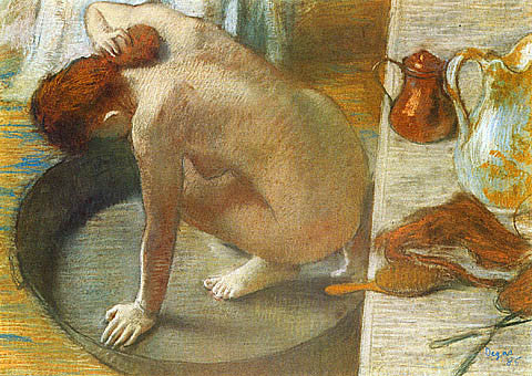 Edgar Degas-Woman In The Tub Sponging Her Neck
