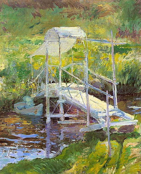 John Henry Twachtman-White Bridge