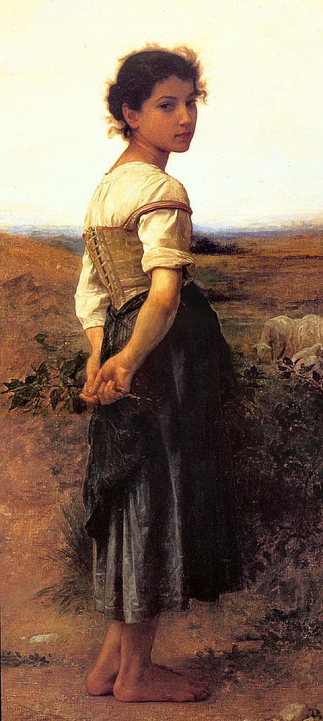 William Adolphe Bouguereau-The Young Shepherdess