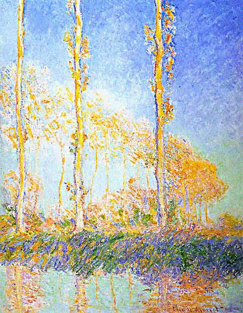 Claude Monet-Three Poplar Trees in the Autumn