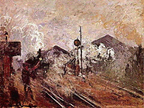 Claude Monet-Tracks Coming Out of Saint Lazare Station