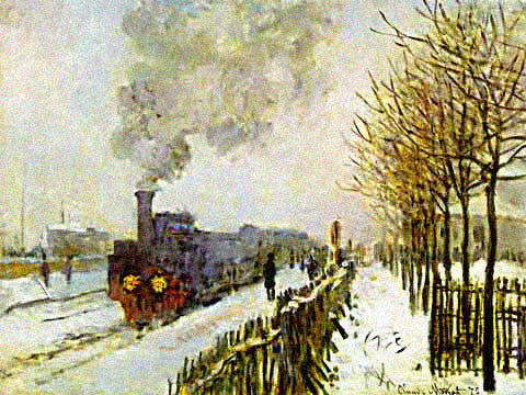 Claude Monet-Train in the Snow Monet